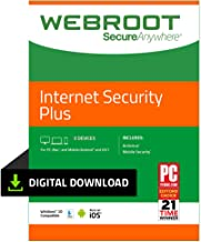 Webroot Antivirus Protection Internet Security Plus | 3 Devices | 1-month subscription
