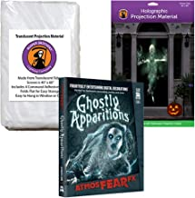 AtmosFEARfx Ghostly Apparitions Halloween Digital Decoration DVD with Holographic Doorway + Reaper Bros Window Projection Screens