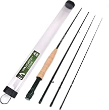 M MAXIMUMCATCH Maxcatch Extreme Graphite Fly Fishing Rod 4-Piece 9 Feet IM6 Carbon Blank, Hard Chromed Guides(3/4/5/6/7/8/10wt)