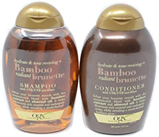 OGX Bamboo Radiant Brunette Hydrate and Tone Reviving+ Shampoo and Conditioner Set