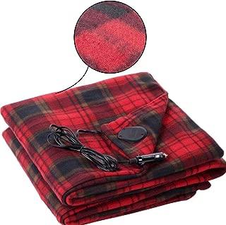 Summeishop Car Electric Blanket, 12V Car Electric Heating Blanket Safety Low Voltage Warm Velvet Heating Blanket Energy-Saving Warm Electric Blanket for Cold Weather Traveling
