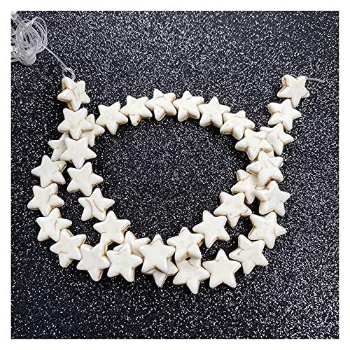 TFGUOqun Cuentas Sueltas, Piedra Natural Forma de Estrella del Encanto Holm Hole Beads Spacer Beads para Las Mujeres Hombre Joyería Hacienda DIY Collar Pulsera Accesorios para Hacer Joyas DIY