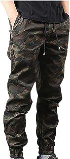 BIBOKAOKE Pantaloni cargo lunghi da uomo, vestibilità regolare, mimetici, casual, per il tempo libero, con tasche con coul...