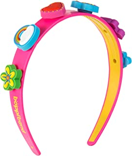boppiband Headband Hairband with Collectible Fashion Accessory Pop & Swap Charms – Pink Band with 6 Charms – Rainbow, Lolly, Roller-Skate, Flower, Heart, Butterfly