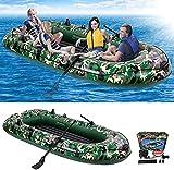 EPROSMIN Inflatable Boat Kayak for Adult - 9Ft Raft Inflatable Kayak-4 Person Boat for Adults Fishing Boat Camouflage Kayak,Apply to Oce,Sea,Lake