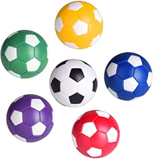 LIOOBO Table Soccer Foosballs Replacement Balls, Mini Colorful 36mm Official Tabletop Game Ball - Set of 6