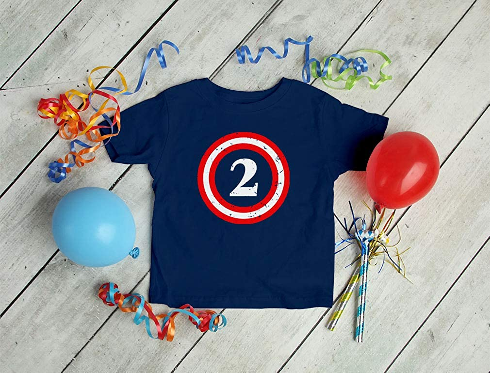 Captain 2nd Birthday Shirt Gift for 2 Year Old Toddler Infant Kids T-Shirt