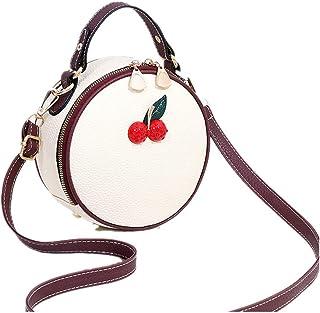 FTSUCQ Womens Strawberry Shoulder Bag Casual Round Hobos Satchels Purse