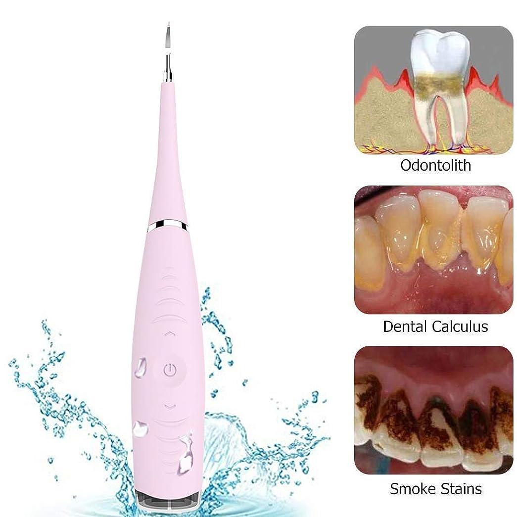 コンパニオン野心心配する歯石を除去し、Breett歯石除去歯磨き剤Electro Sonic Dental Calculus歯除去剤ツールキット - Tooth Scaler Scaler除去剤の汚れ、スケール除去、5調整