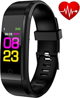 ANCwear Fitness Tracker, Color Screen Activity Tracker with Heart Rate Monitor Sleep Monitor Watch,Calories Counter, IP68 Waterproof, Steps Pedometer Tracker Watch for Kids, Women and Men