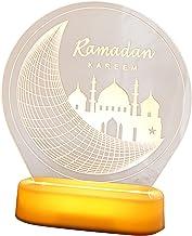 Colcolo Ramadan Ornament Decoration, Acrílico Ramadan Eid Mubarak Moon Star Luz Islâmica Led, Muçulmano Eid Led Ornament -...