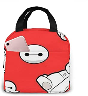 Lunch Bag Baymax Cute Insulated Lunch Box For Men & Women Meal Prep Lunch Tote Bag