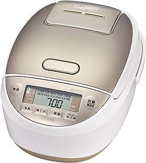 タイガー魔法瓶(TIGER) 炊飯器 おかずも作れる圧力IH 土鍋コーティング 少量高速炊き 1合約17分 炊きたて 5.5合 ホワイト JPK-A100W