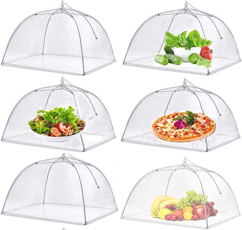 Pop Up Mesh Food Covers Tent Umbrella For Outdoors Parties Picnics 17 X 17 Inches 6 Pcs Food Protector Net Screen Tents Keep Out Flies Wasp Bugs Mosquitoes