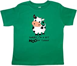 inktastic Sorry, I'm a Bit Moody Today Cute Cow Pun Toddler T-Shirt