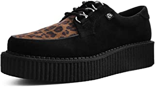 T.U.K. Shoes T2263 Unisex-Adult Creepers, Black & Leopard Anarchic Creeper