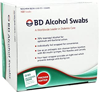 BD Alcohol Swabs 100 Each (Pack of 5)