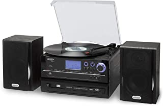 Jensen(r) Jta-990 3-Speed Stereo Turntable Cd Recording System With Cassette Player, Am/fm Stereo Radio & Mp3 Encoding