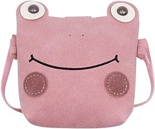 RARITYUS Cute Frog Crossbody Shoulder Bag Coin Purse Plush Mini Cartoon Satchel Handbags for Kids Girls Boys Women