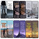 Devotional Bible Verses for Men Bookmarks (60 Pack) - Perfect Giveaways for Sunday School and Ministries Designed to Inspire Men