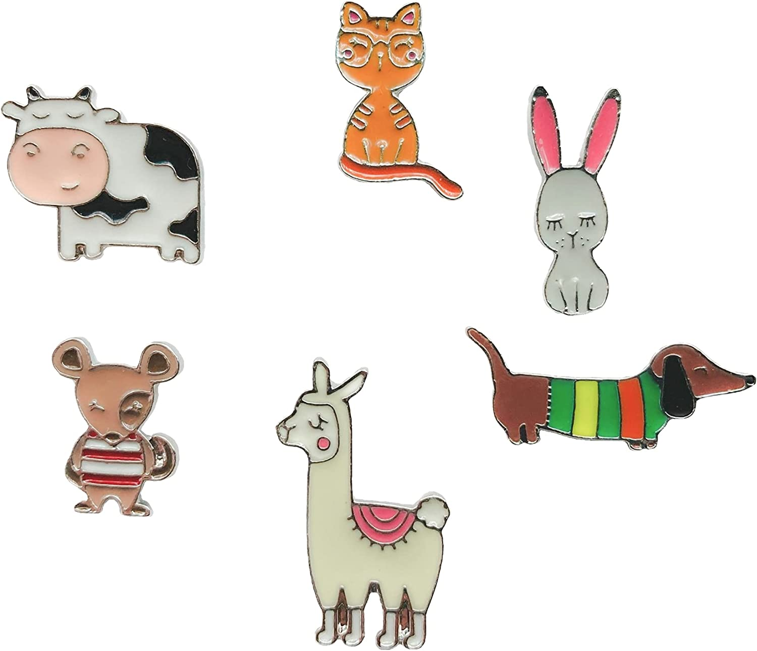 Adorable Animal Enamel Pins - Set of Bunny Cat Dog Mouse Our shop OFFers the best service Llama Ranking TOP5 6