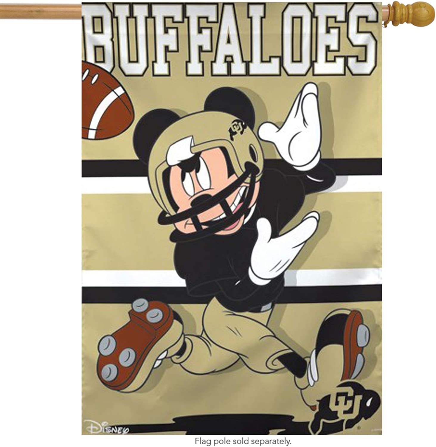University of colorado Buffaloes NCAA Mickey Mouse House Flag Licensed 28 x40