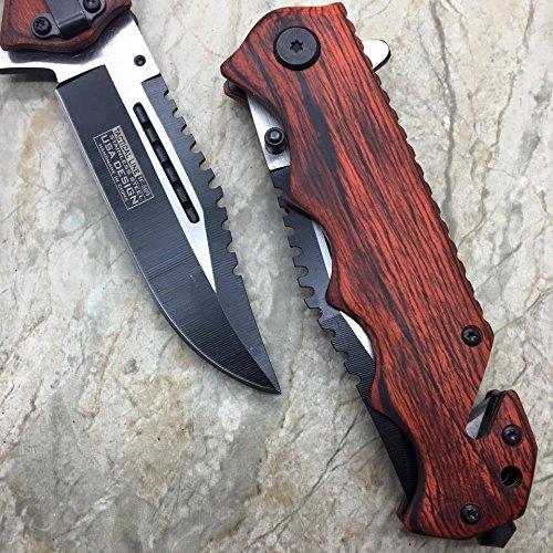 Tac Force G'Store Vintage Wooden Handle Pocket Hunting Tactical Hunting Handy Knife (Original)