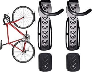 Dirza Bike Wall Mount Rack with Tire Tray - Vertical Bike Storage Rack for Indoor,Garage,Shed - Easy to install - Great fo...