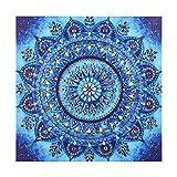 VETPW DIY 5D Diamante Pintura por Números Kit, Mandala Bricolaje Diamond Art Painting Bordado De Punto De Cruz Diamante Arts Craft para Decoración de la Pared del Hogar (25x25CM) - Flores de Mandala