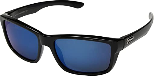Black/Polarized Blue Mirror Lens