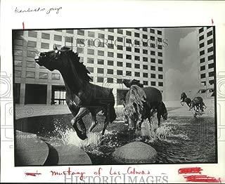 1989 Press Photo Bronze mustangs of Las Colinas in Irving, Texas - hca39517