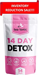 Tea Tonic 14 Day Detox Tea Weight Loss Cleanse for Reduced Belly Fat a Slimming Way to a Skinny and Flat Fit Tummy
