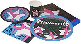 Blue Orchards Gymnastics Deluxe Party Packs (70 Pieces for 16 Guests!), Gymnast Birthday Supplies, Gymnast Competition Supplies, Tableware