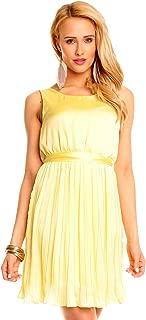 Damen Kleid Mini  Ärmellos Sommerkleider Cocktailkleid Partykleid Floral 2613