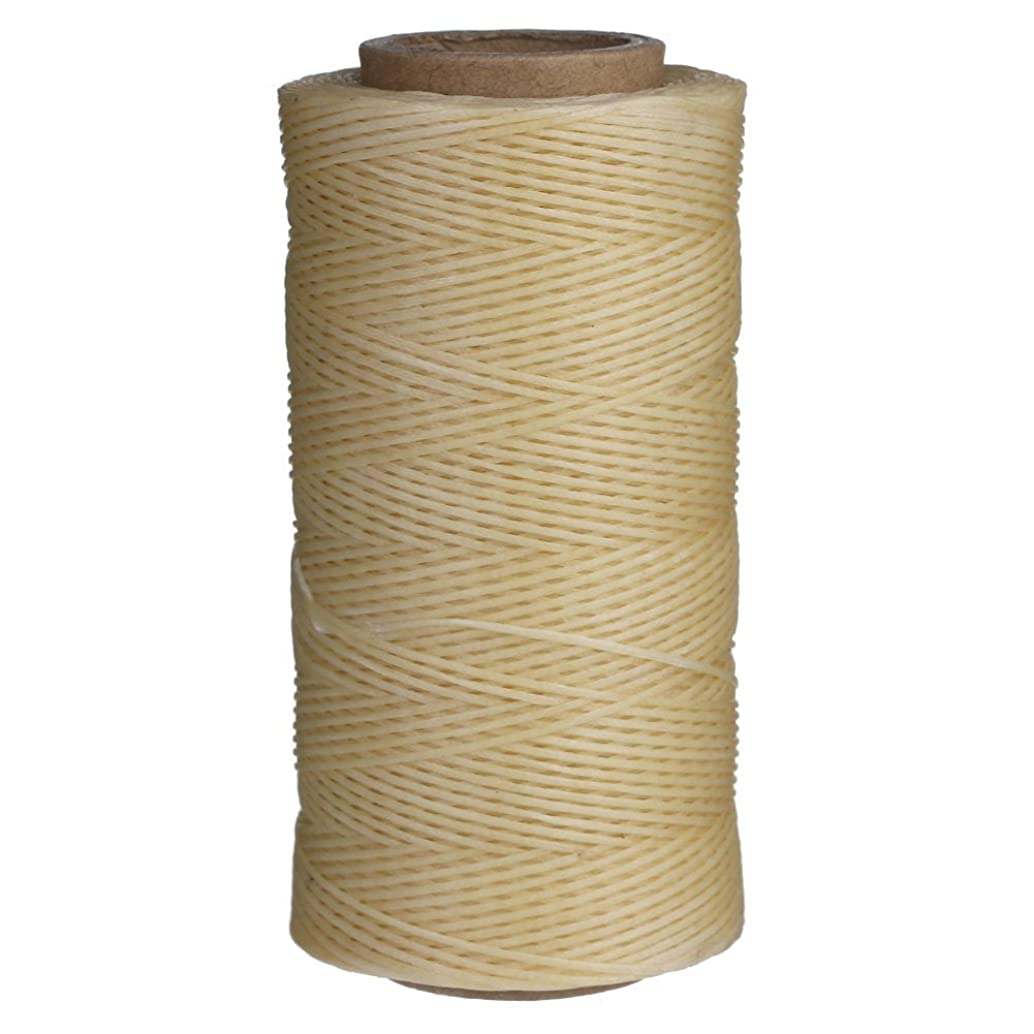 Candora 260M Sewing Waxed Thread 1MM For Chisel Awl Upholstery Shoes Luggage Set 3 Colors (Beige)