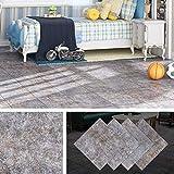 livelynine pavimento pvc adesivo cemento rivestimento pavimento adesivo mattonelle adesive cucina lavabile pavimenti in pvc autoadesivi per pareti, piastrelle adesive bagno 4 pezzi 30x30cm