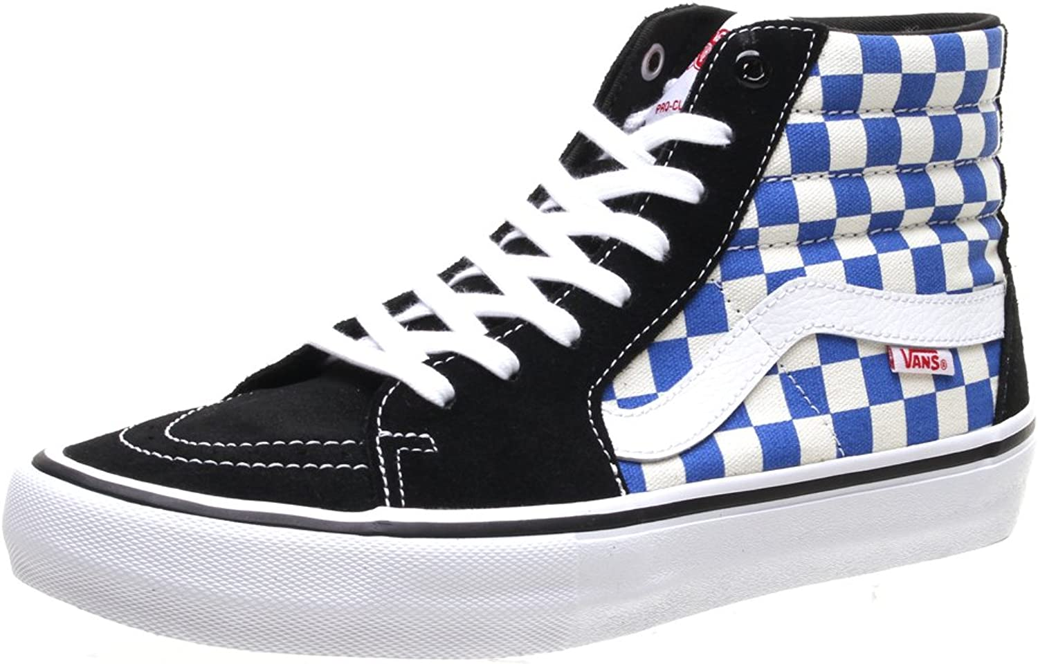 Vans SK8 Hi Pro (Checkerboard) Black Victoria bluee shoes VA347TQ1L