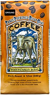 Raven's Brew Coffee Three Peckered Billy Goat, 12 Ounce - Dark Roast - Full Body with a Long Sweet Finish (Ground, 12 oz)