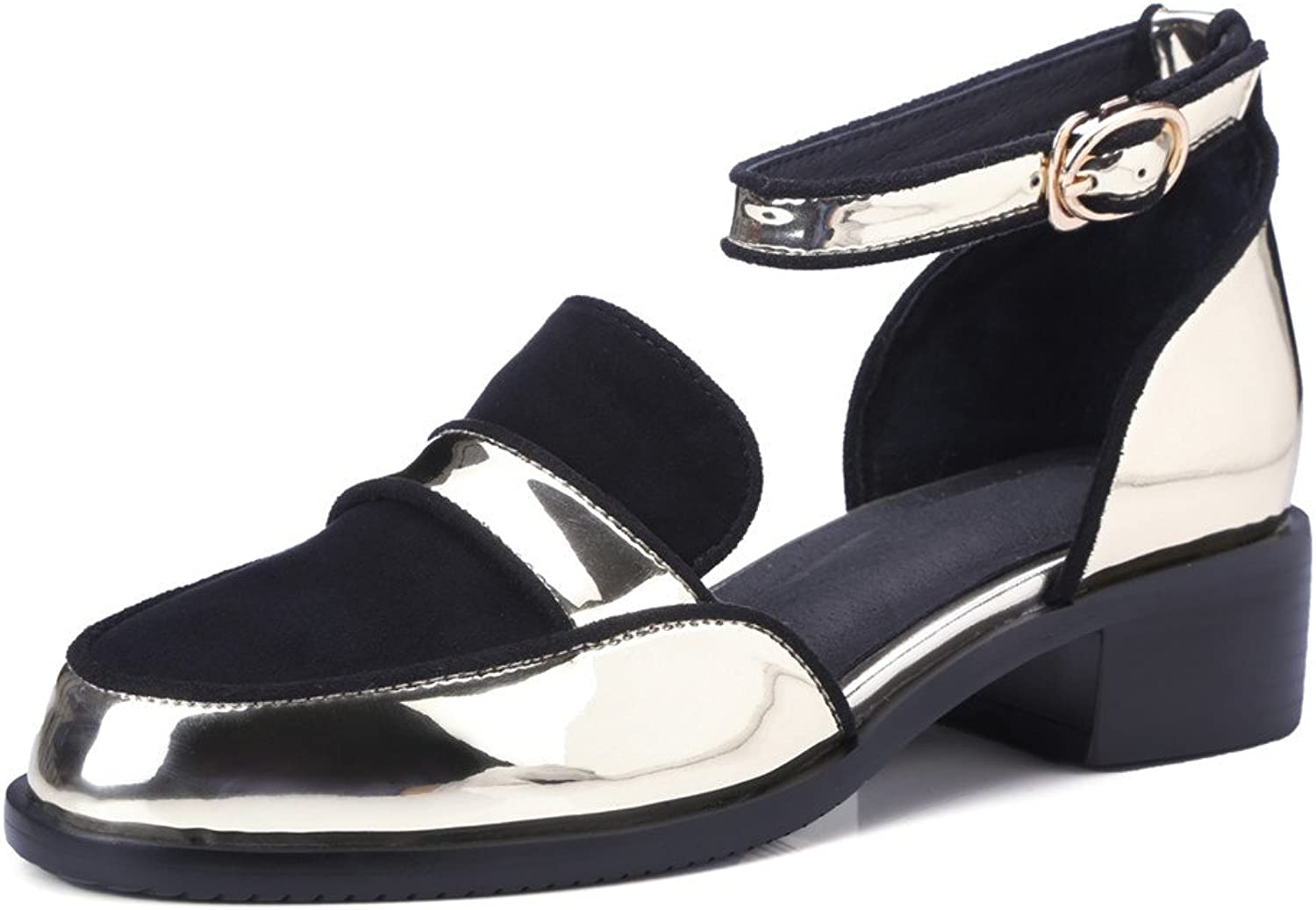 MINIVOG Women's D'Orsay Pump shoes with Ankle-Strap