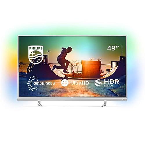 Philips Ambilight 49PUS6482/12 Fernseher 123 cm (49 Zoll) LED Smart TV (4K UHD, Pixel Plus Ultra HD, HDR Premium, DTS Premium Sound, Android TV)
