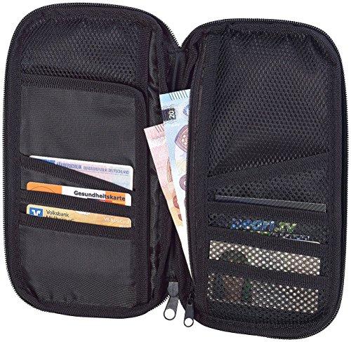 Xcase Reisedokumententasche: Geräumiger Reise-Organizer mit 12 Fächern, inkl. Außenfach (Reiseunterlagen Organizer)