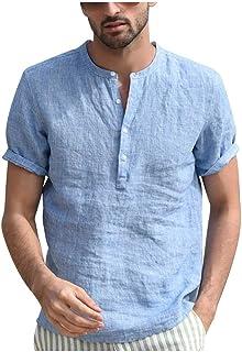 a5bad2ffa205 MOIKA Homme Chemises Manches Courtes sans Repassage Facile Slim Fit Casual  Business Infroissable Coupe Parfaite Été