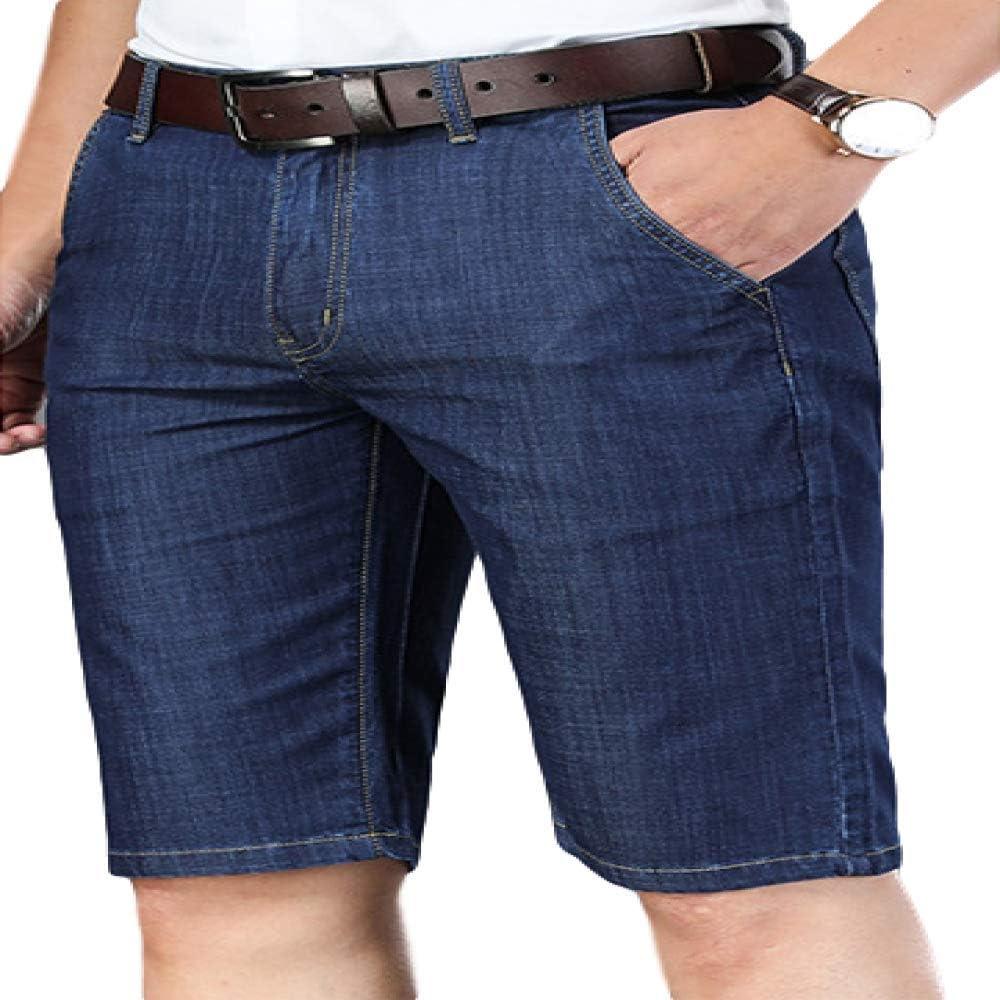 brandless Men's Shorts Summer Thin Straight Denim Shorts Casual Solid Color