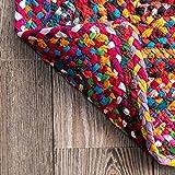 nuLOOM Tammara Handgeflochten Teppich, Baumwolle, Bunt, 90 cm x 150 cm oval - 5
