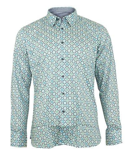 Maddox Street London -  Camicia Casual - Floreale - Classico - Uomo M34MW01 Calypso