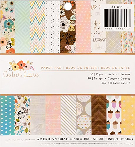 Mehrfarbig 15,2 x 15,2 cm Papermania Papier-Set