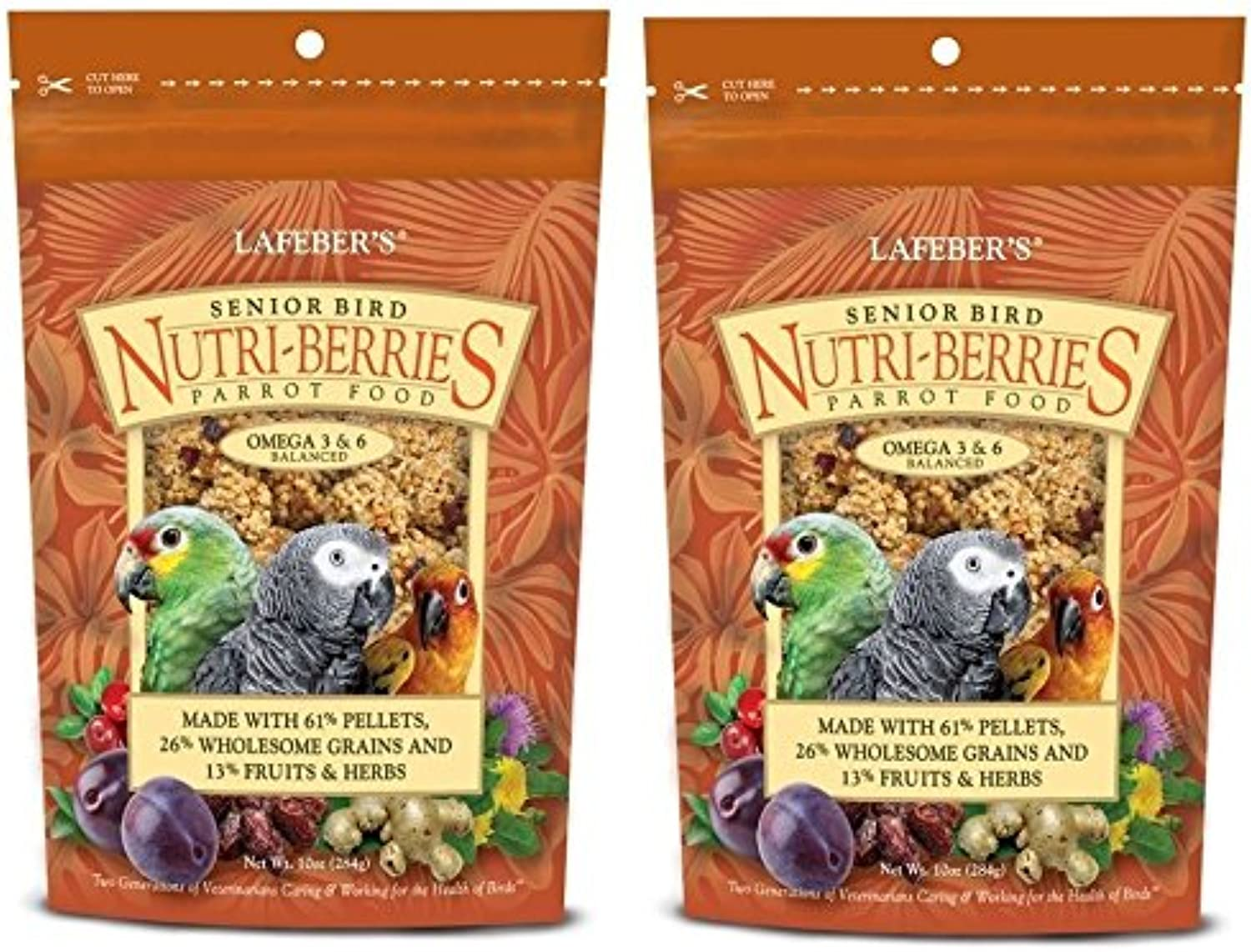 (2 Pack) Lafebers Senior Bird NutriBerries Bird Treat and Parred Food