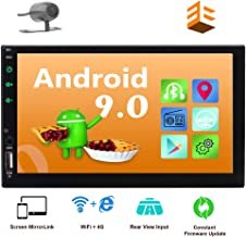 EINCAR Android 9.0 2 Din Car Stereo with GPS Navigation in Dash Head Unit Bluetooth 4.0 7'' Capacitive Touchscreen Rear View Camera Included!Quad Core WiFi 4G FM AM RDS Radio +Remote Controller