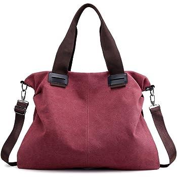Women's Canvas Vintage Shoulder Bag Hobo Daily Purse Large Tote Top Handle Shopper Handbag
