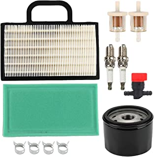Wellsking 698754 273638 Air Filter with Oil Fuel Filter for Briggs & Stratton 499486S 695667 273638S Intek Extended Life Series V-Twin 18-26 HP John Deere Lawn Mower Tractor
